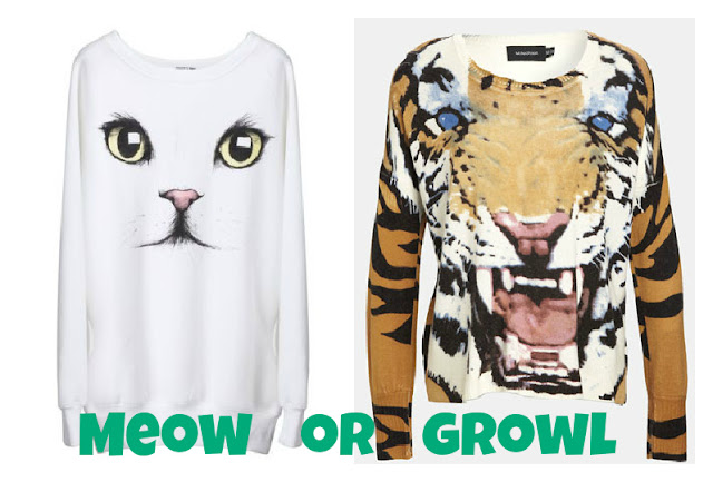 Tiger Cat Face Sweater