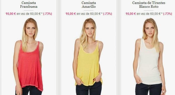 Tops sin mangas por 16 euros