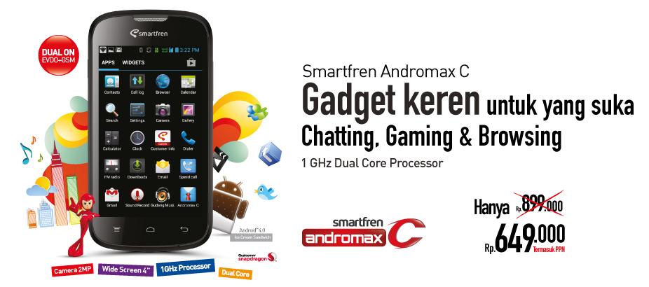 Smartfren Andromax C adalah salah satu smartphone android terbaru dari