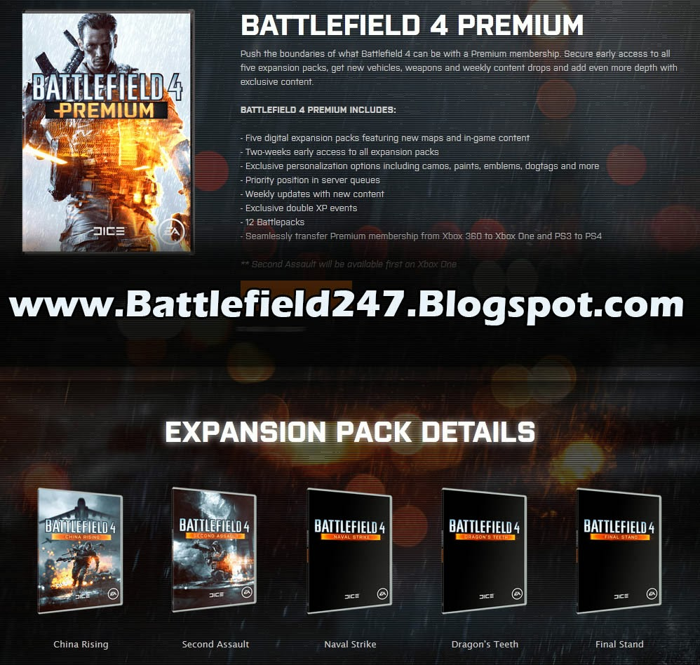 Battlefield 4 Premium Expansion Pack