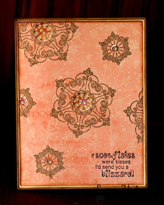 Snowflake Card by Larissa Heskett for Newton's Nook Designs | Beautiful Blizzard Stamp Set