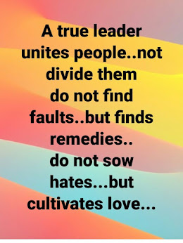 True and godly leaders unites, NOT divides!