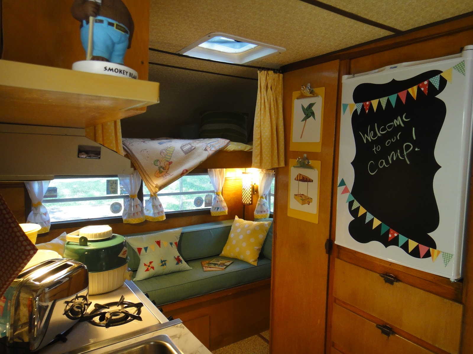 Crazy Vintage Camper Bug The Frolic 39 S Interior And Its First Rally And Ours Too