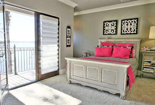 Pink and Grey Teen Bedrooms 600 x 408