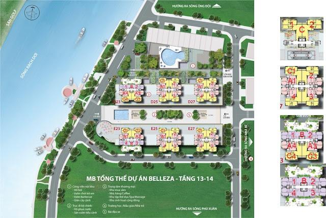 MB%25E1%25BA%25B1ng+Belleza+1 Bán gấp căn hộ Belleza Quận 7 chiết khấu 3%, tầng 18, view sông Phú Xuân