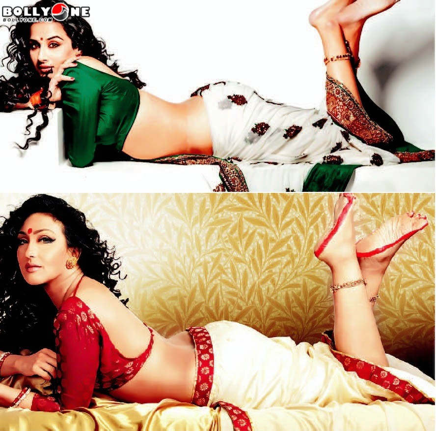 Rituparna Sengupta, Vidya Balan  Hot Backless Wallpaper