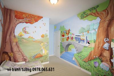 vẽ tranh tường ,vẽ tranh tường mầm non