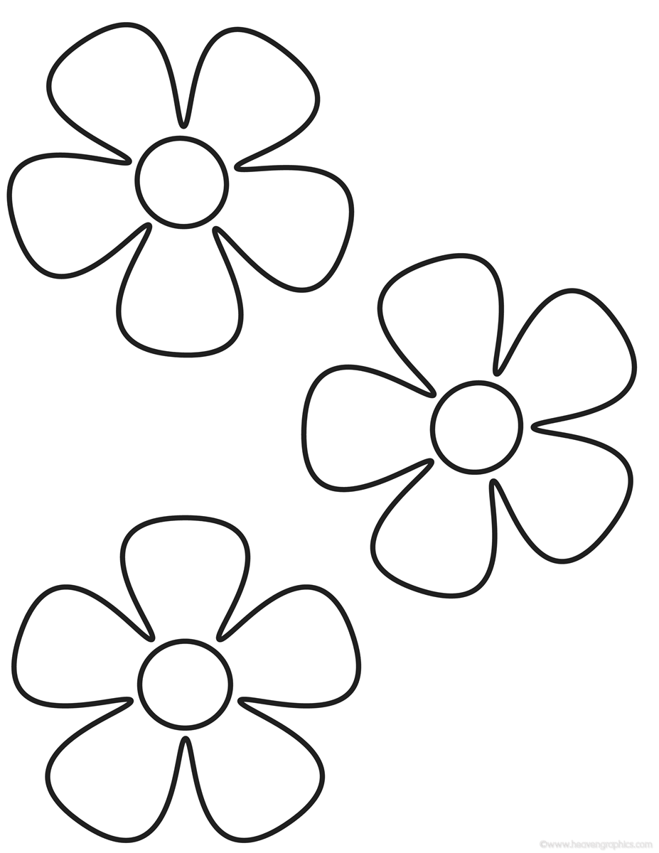 Flowers Coloring Pages Many Flowers Flower Images Coloring Pages