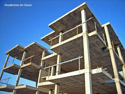 Estructura de hormigón armado en desarrollo vertical para viviendas