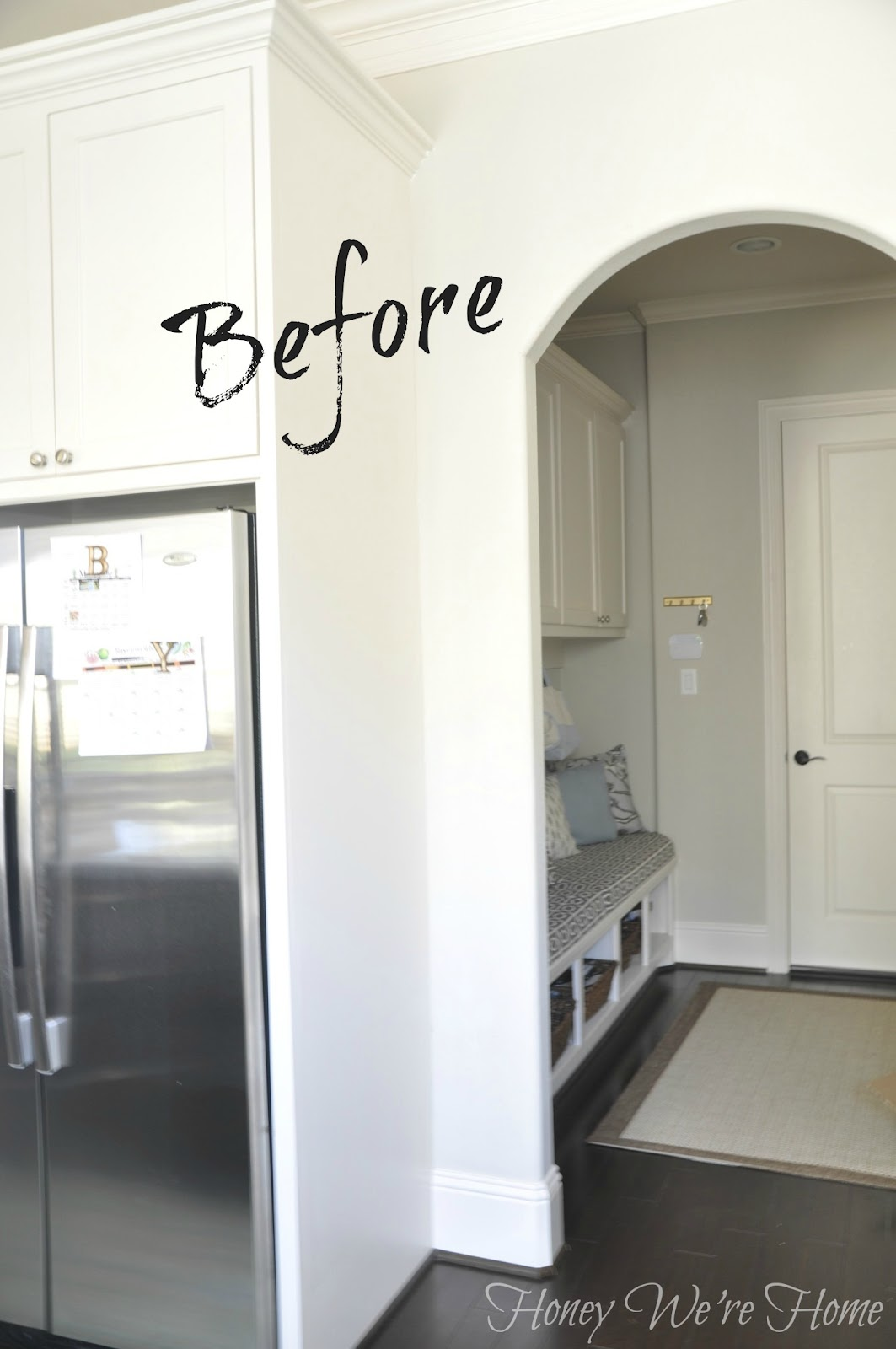 diy (kitchen chalkboard wall) | honey we're home