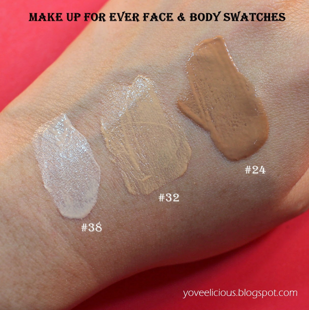 yoveelicious: Make Up For Ever Face and Body Review and Swatches #24 ...