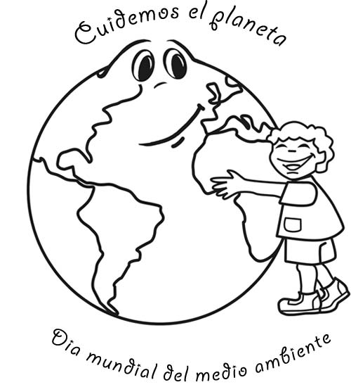Dibujo Del Día Mundial Medio Ambiente Para Colorear