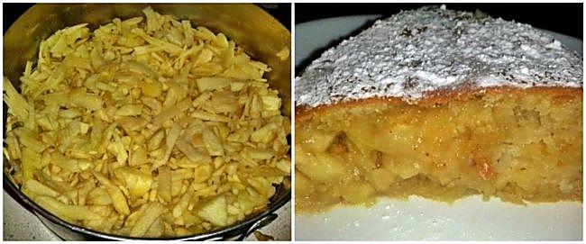 Preparación de la tarta sueca de manzana