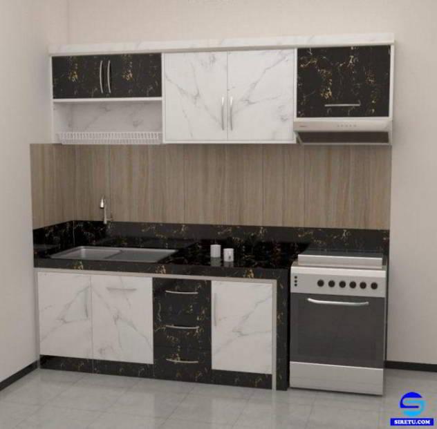 20 desain harga kitchen set minimalis modern murah for Desain kitchen set minimalis modern