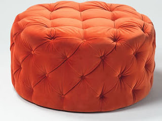 round upholstered ottomans