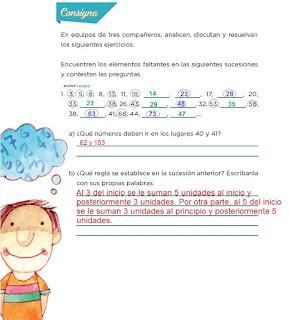 Respuestas Apoyo Primaria Desafíos matemáticos 4to grado Bloque I lección 9 ¿Cuáles faltan?