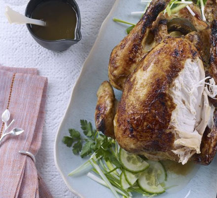 sticky lime roast chicken recipe