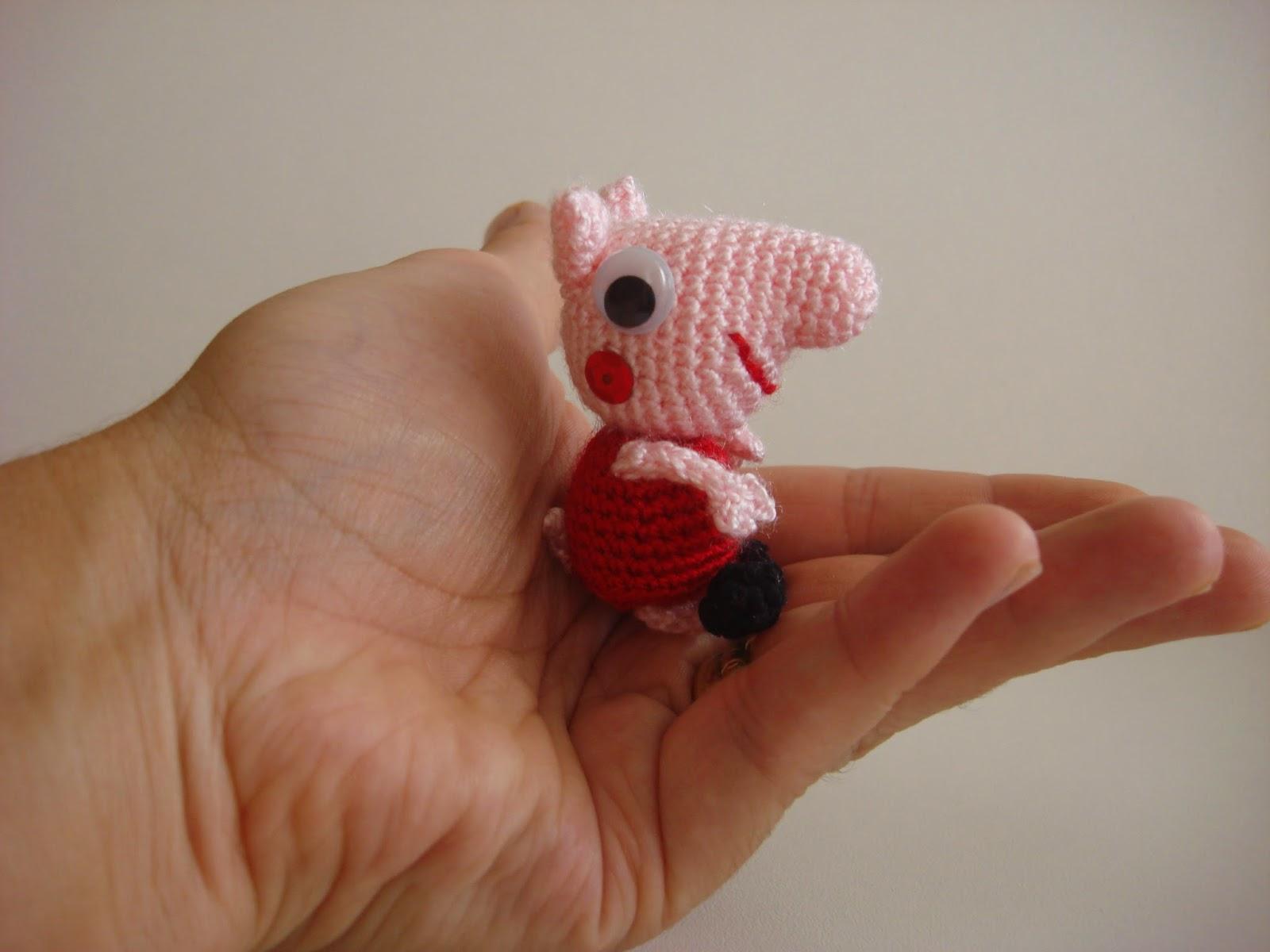 Amigurumi Peppa Pig Mini : CANAL CROCHET: MINI PEPPA PIG AMIGURUMI, PATR?N LIBRE