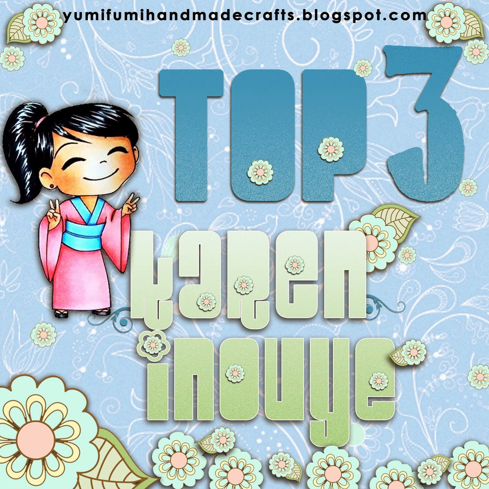 Yay, I made Top 3 on Yumi and Fumi Handmade