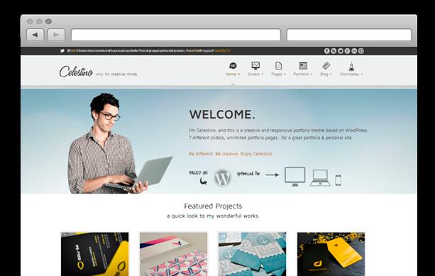 Celestino Free Portfolio WordPress theme