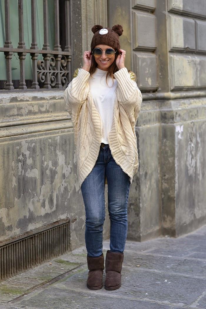 look jeans cardigan lana