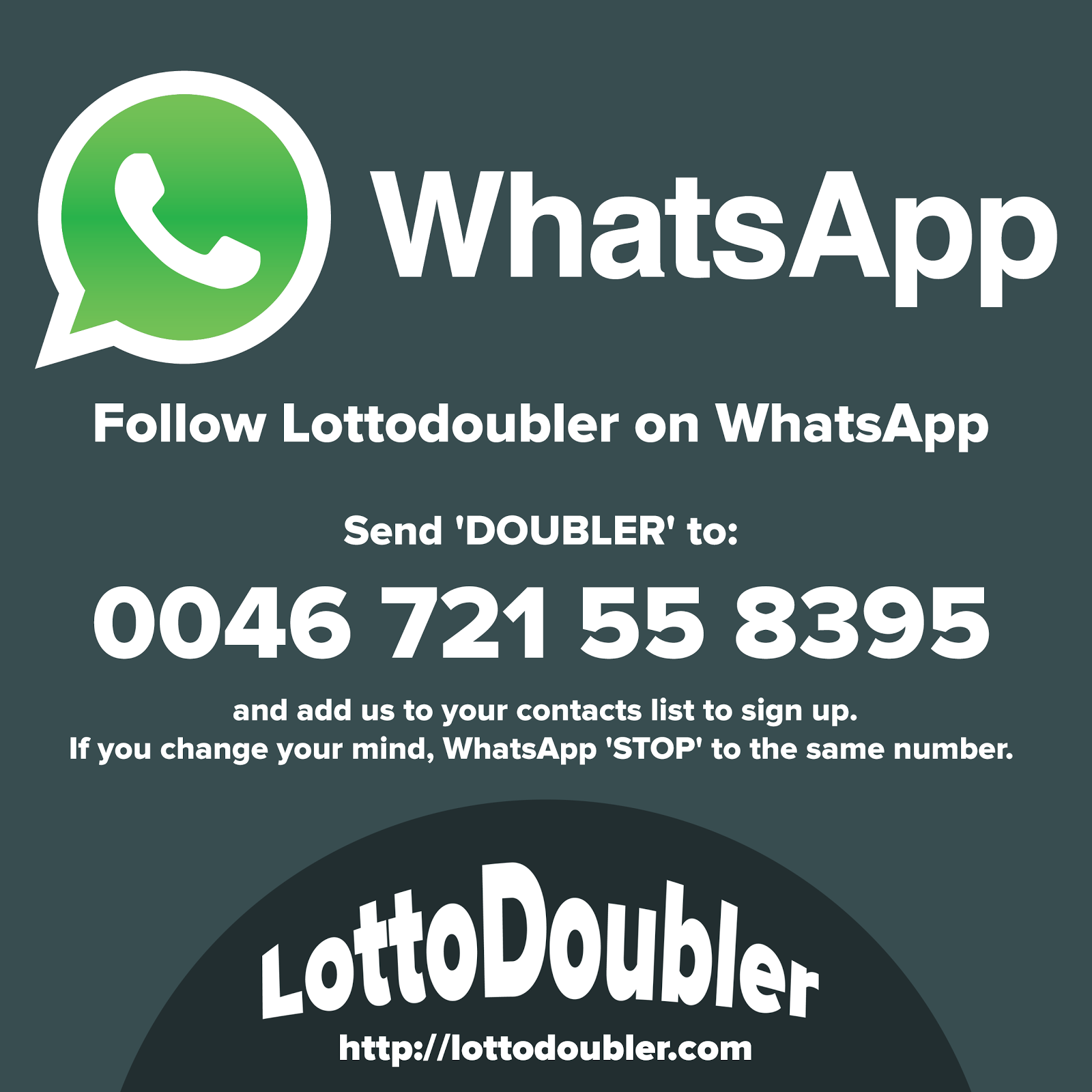 Follow Lottodoubler on WhatsApp.