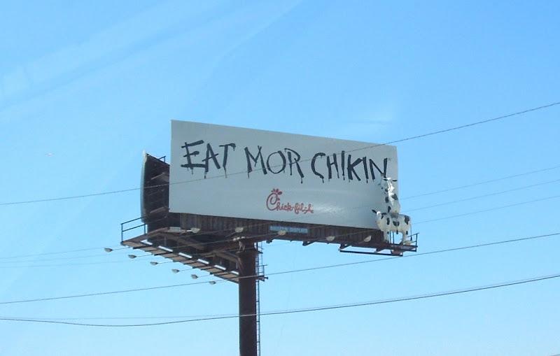 Eat Mor Chikin ChickFilA billboard