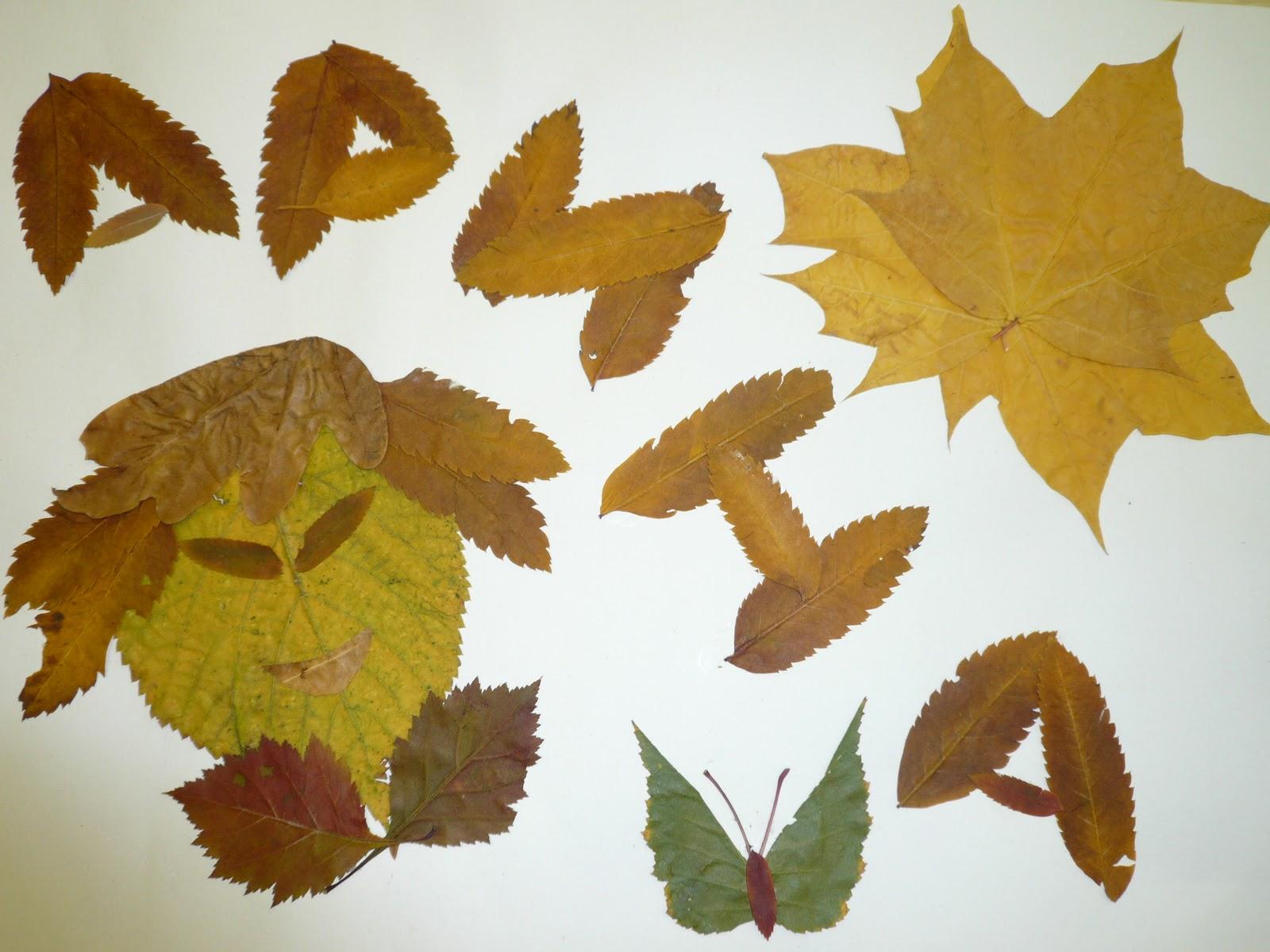 Стих поделки из листьев