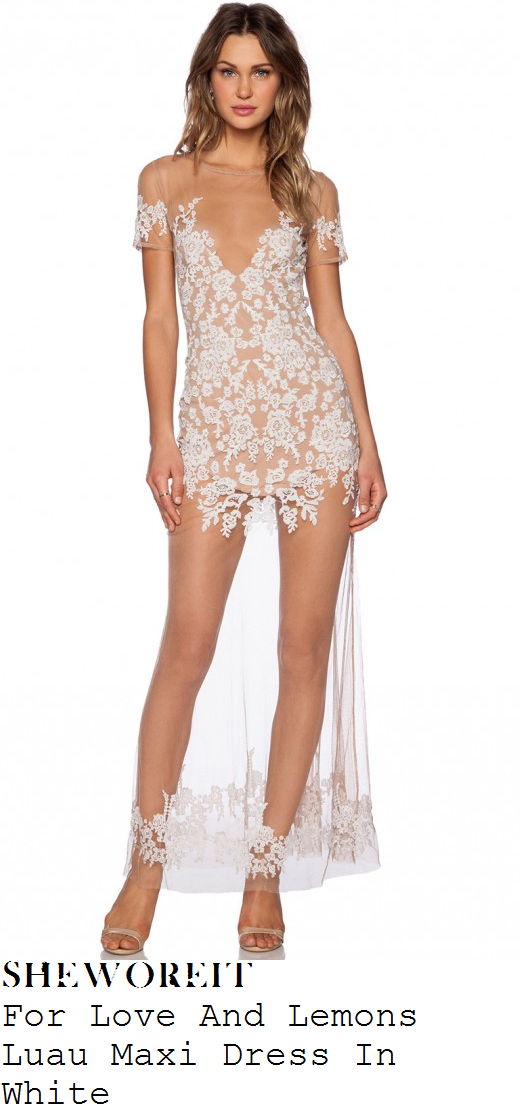 danielle-armstrong-white-nude-floral-lace-mesh-maxi-dress-towie-marbs