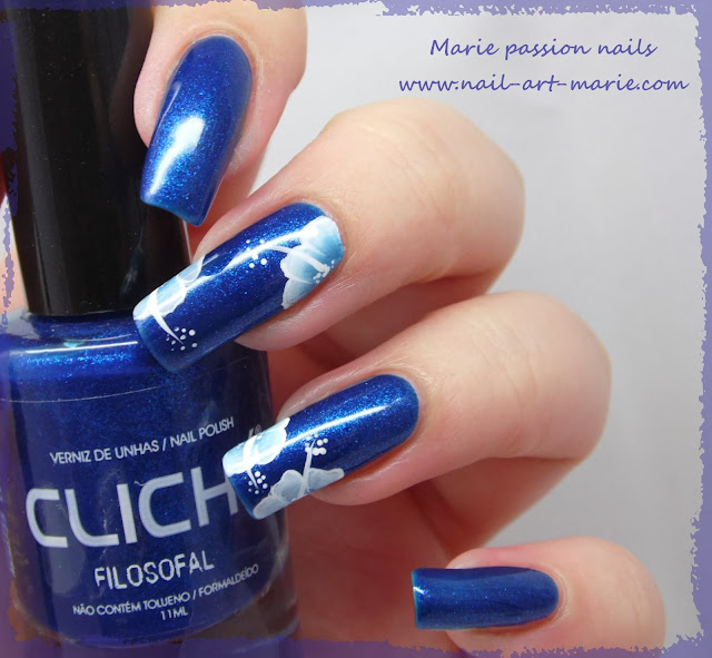 nail art one stroke double accent nail4