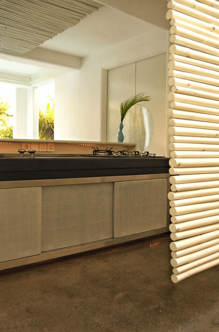 Kitchen furniture in Exotic contemporary style house in Bali