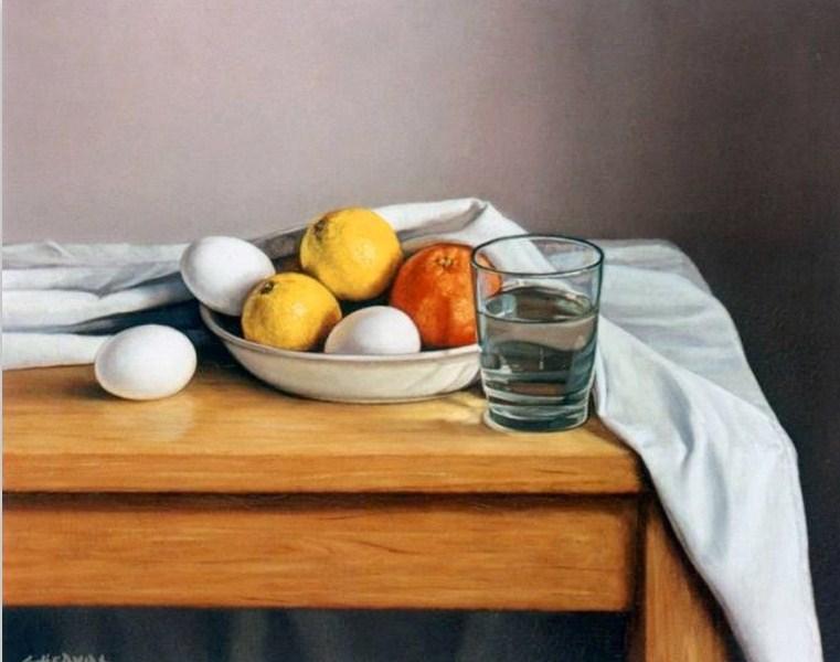 Cuadros pinturas oleos pinturas con vasos de vidrio - Vidrio plastico para cuadros ...
