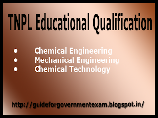 TNPL Recruitment Educational Qualification