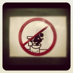 Sign for Not a Turkish Toilet