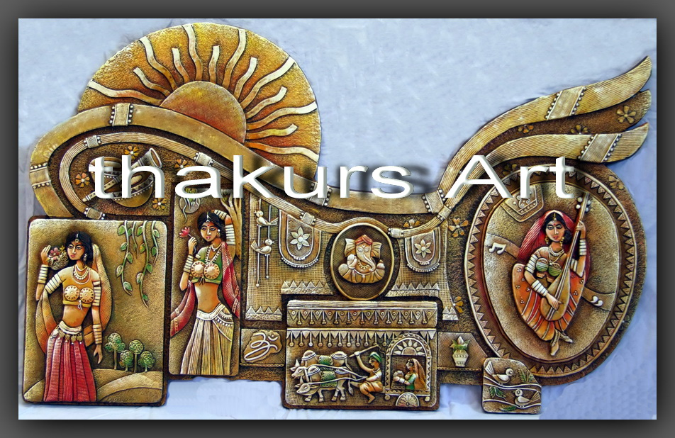 3d creation rajasthani ceramic mural for Ceramic mural painting