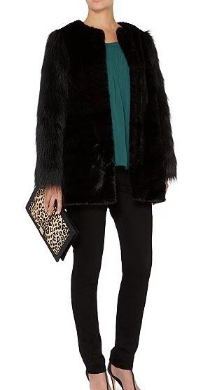 Black fur coat house of fraser