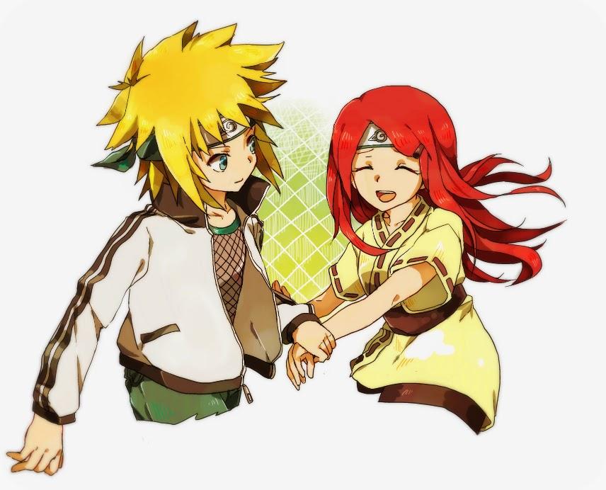 free anime wallpaper minato and kushina chibi