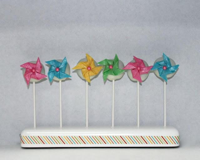 Fun Pinwheel Cake Pops by Sweet Bites by Jeanette