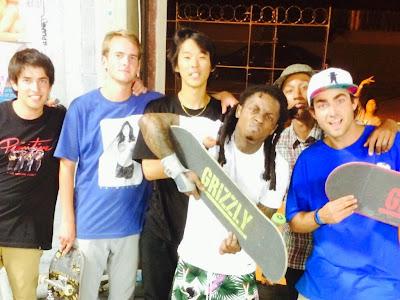 fotos de lil wayne y amigos skate skaters patin