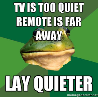 foul bachelor frog tv is too quiet