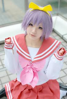 Aka Cosplay as Tsukasa Hiiragi Seifuku from Lucky Star