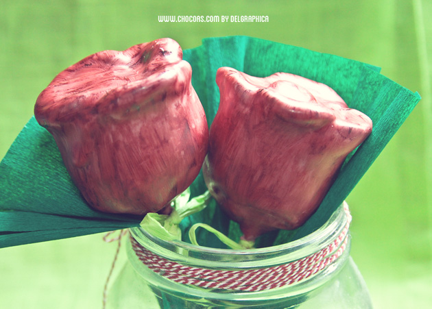 Cakepops de Sant jordi en forma de rosa  de red velvet