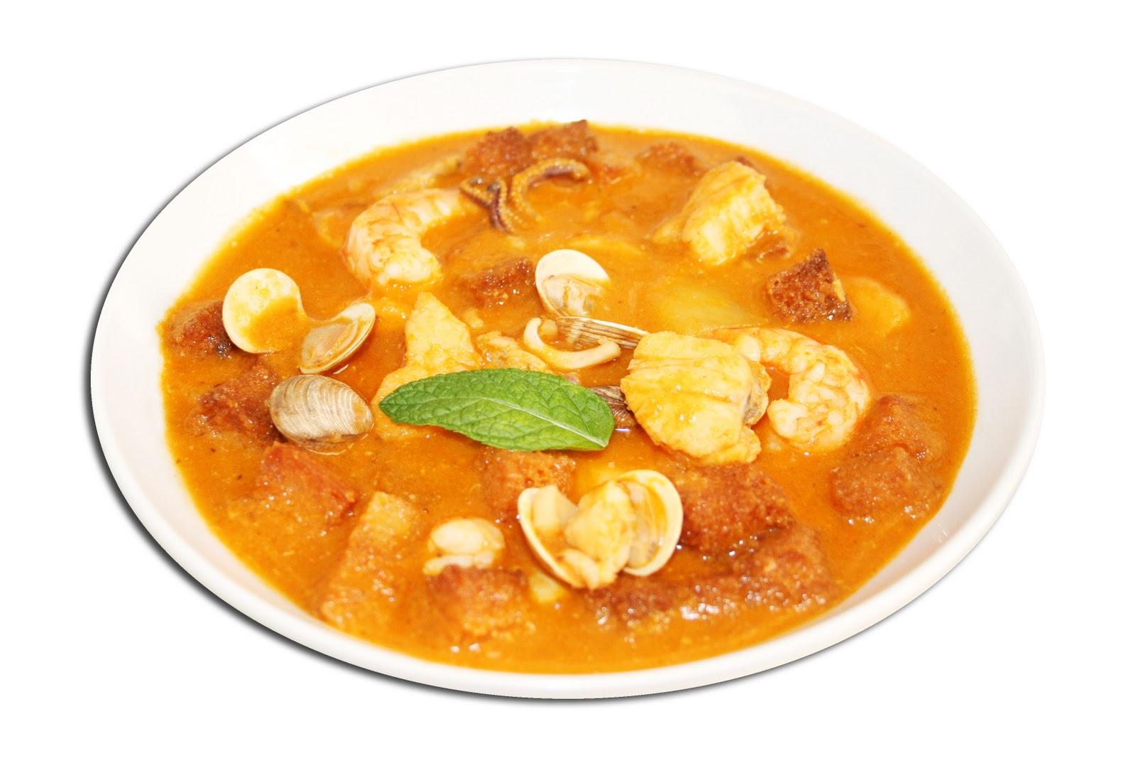 Sopa de mariscos cocina canaria - Sopa de marisco y pescado ...