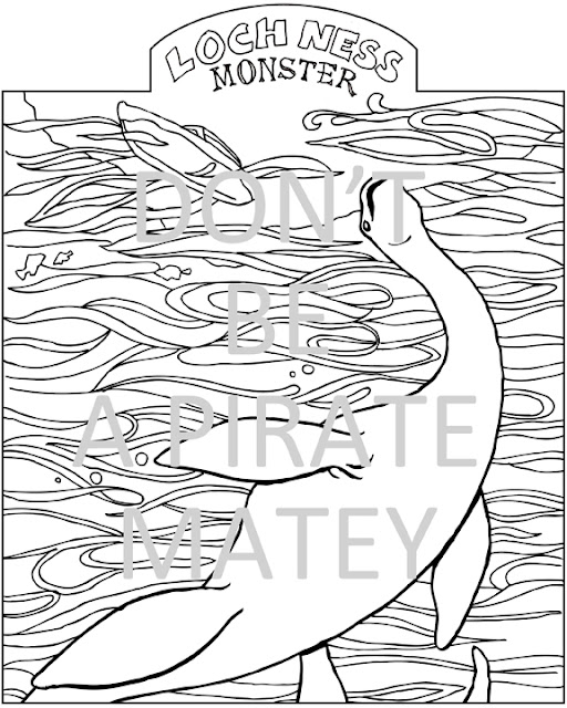 cryptid coloring pages - photo#4