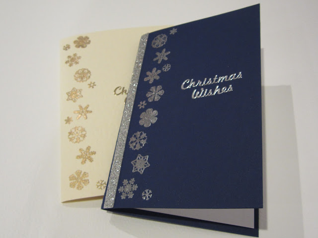 homemade christmas cards stamps embossing