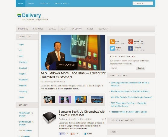 Delivery Blogger Template