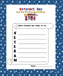 , Veteran's Day Freebie