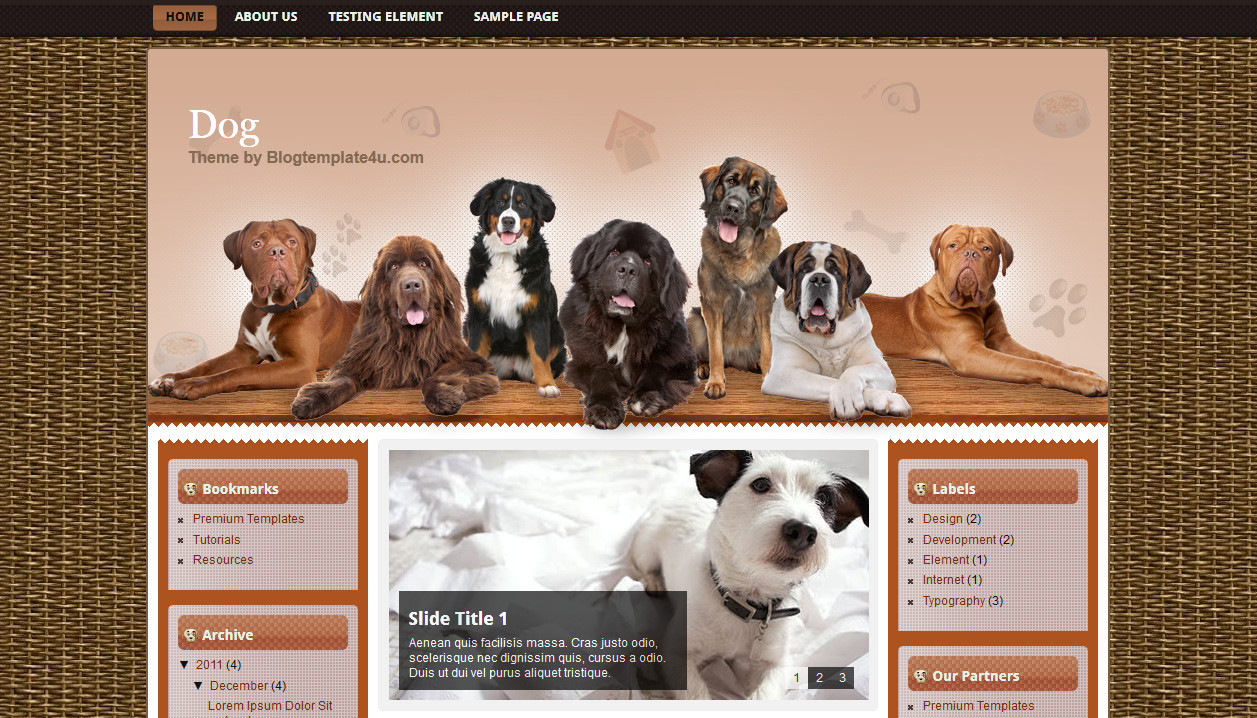 Dog - Free Download Blogger Templates for Templates Lovers