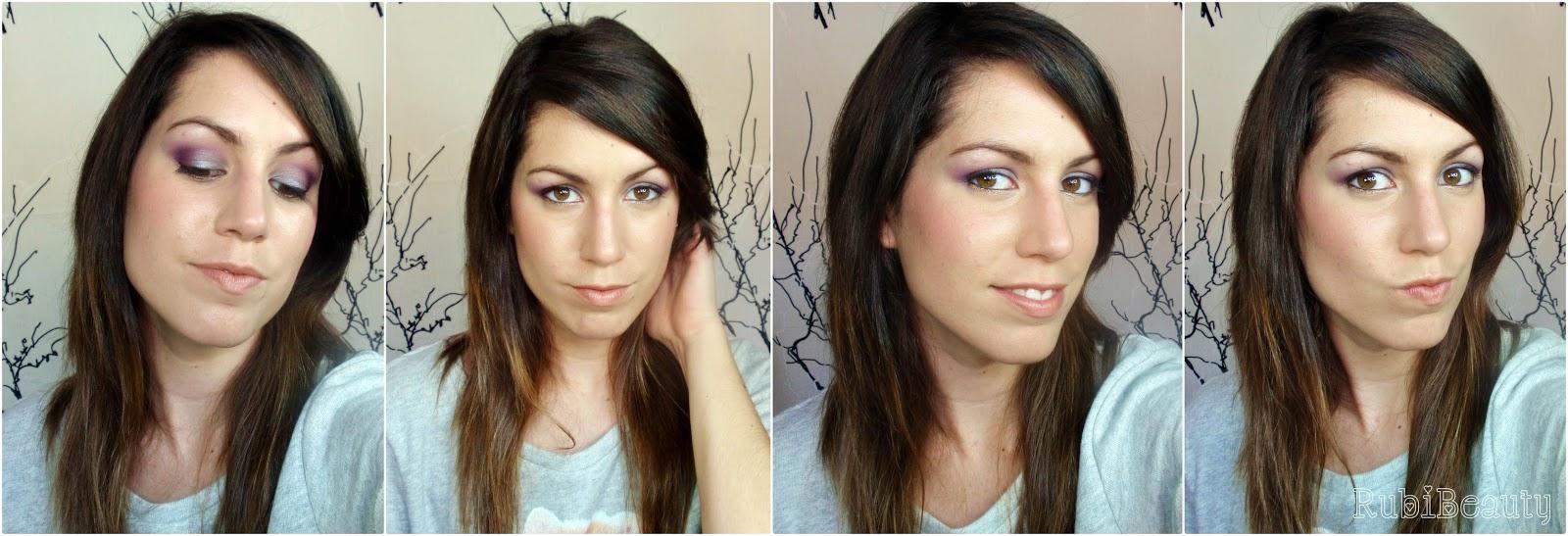 rubibeauty maquillaje look peggy sage morado fashion plum