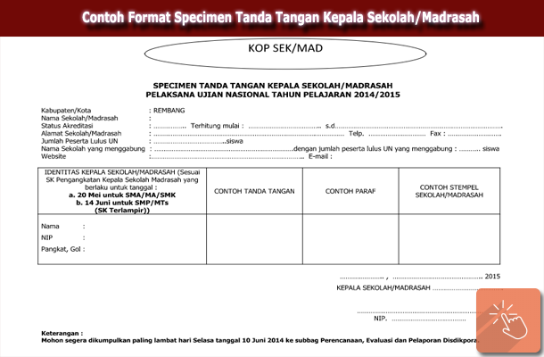 Download Contoh Format Specimen Tanda Tangan Kepala Sekolah Madrasah Wiki Edukasi